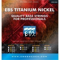 Струны для бас-гитары EBS TN-CM Titanium Nickel Strings Classic Medium 4-string