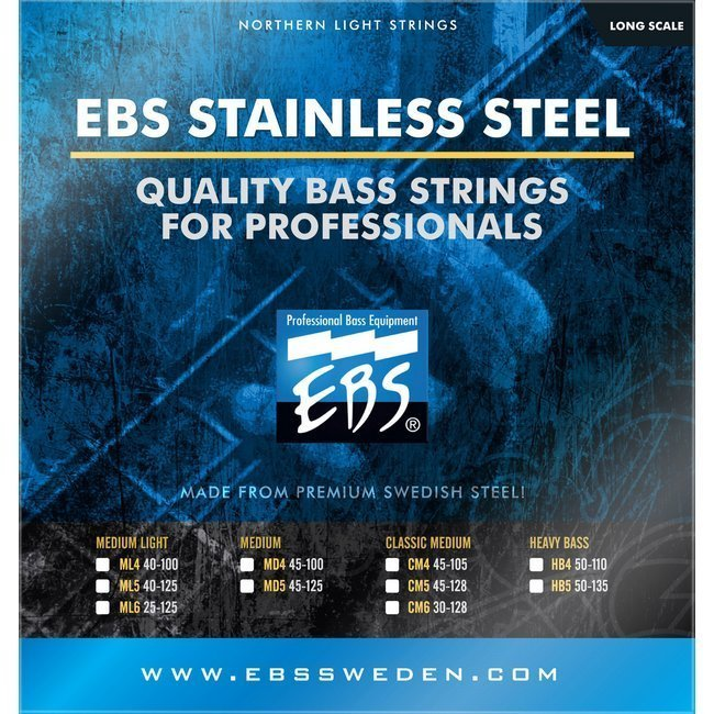Струны для бас-гитары EBS SS-HB Stainless Steel Heavy Bass 4-strings