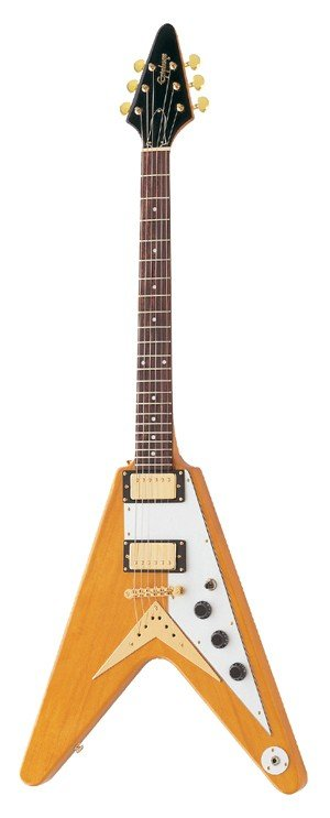Электрогитара EPIPHONE 1958 KORINA FLYING V (EGV2KOGH1) Natural