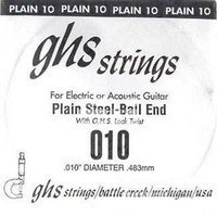 Струна для электрогитары GHS STRINGS 010 SINGLE PLAIN BALLEND (10)