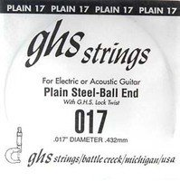 Струна для гитары GHS STRINGS 017 SINGLE PLAIN BALLEND (17)
