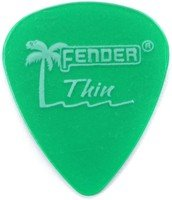 Набор медиаторов Fender 351 Surf Green T (098-1351-757)