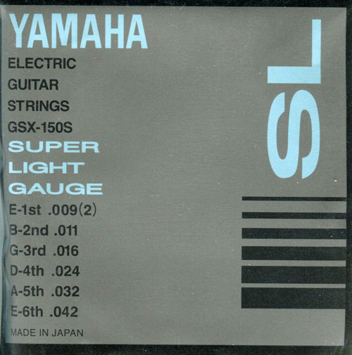 Струны Yamaha GSX150S ELECTRIC SUPER LIGHT 09-42