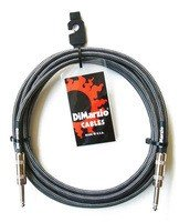 Кабель гитарный Dimarzio EP1710SS INSTRUMENT CABLE 10ft BLACK GREY